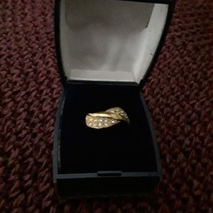 Lovely Gold-tone CZ ring
